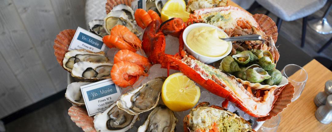 Les Fruits de mer chez Vin et Marée