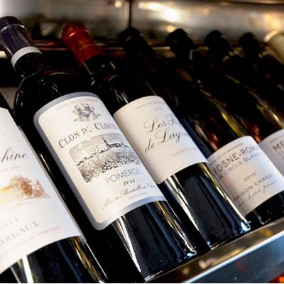 Carte des vins chez Vin et Marée